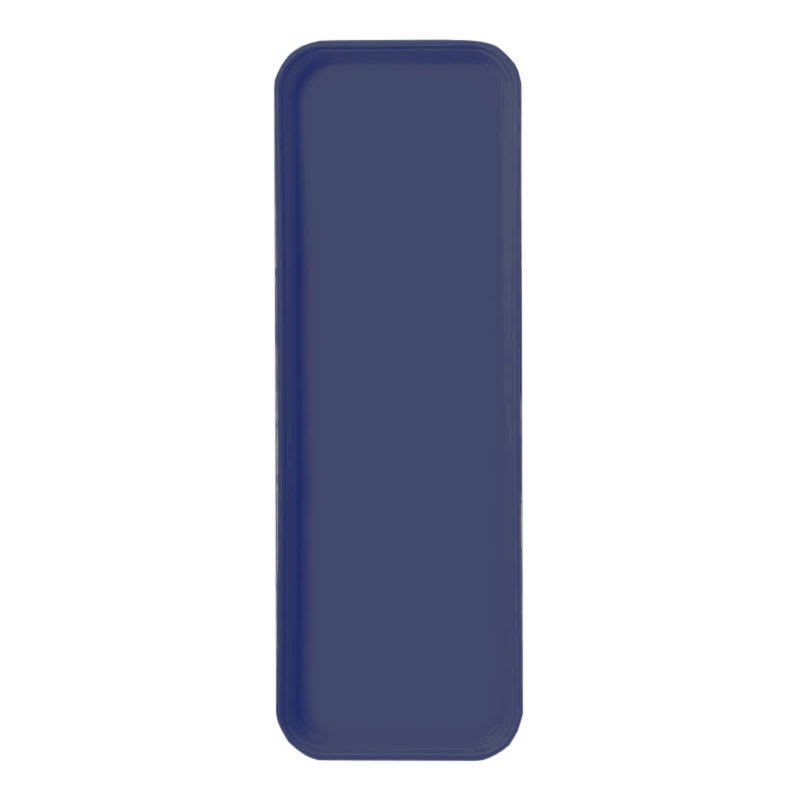 "Carlisle 269FG014 Rectangular Display/Bakery Tray - 8 3/4 x 25 1/2"", Cobalt Blue"