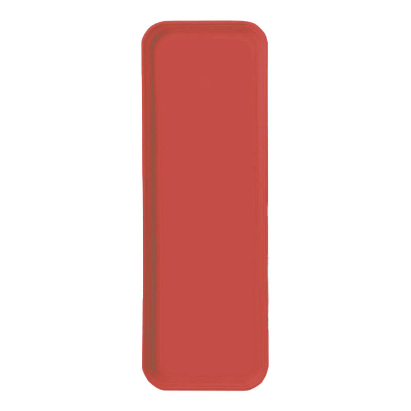 "Carlisle 269FG017 Rectangular Display/Bakery Tray - 8-3/4 x 25-1/2"", Red"