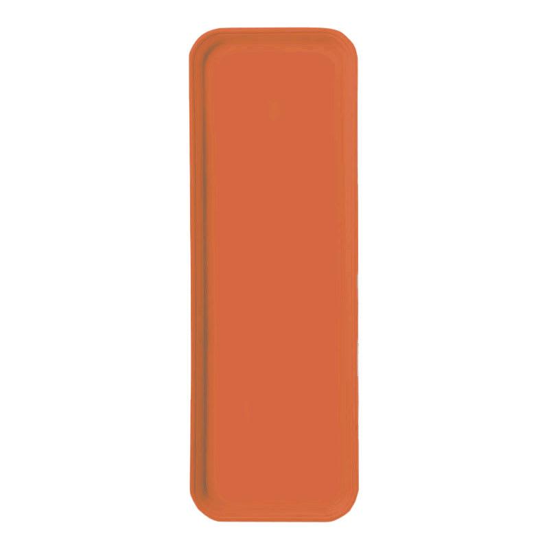 "Carlisle 269FG018 Rectangular Display/Bakery Tray - 8 3/4 x 25 1/2"", Orange"