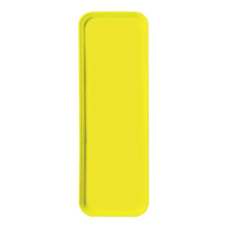 "Carlisle 269FG021 Rectangular Display/Bakery Tray - 8-3/4 x 25-1/2"", Pineapple"