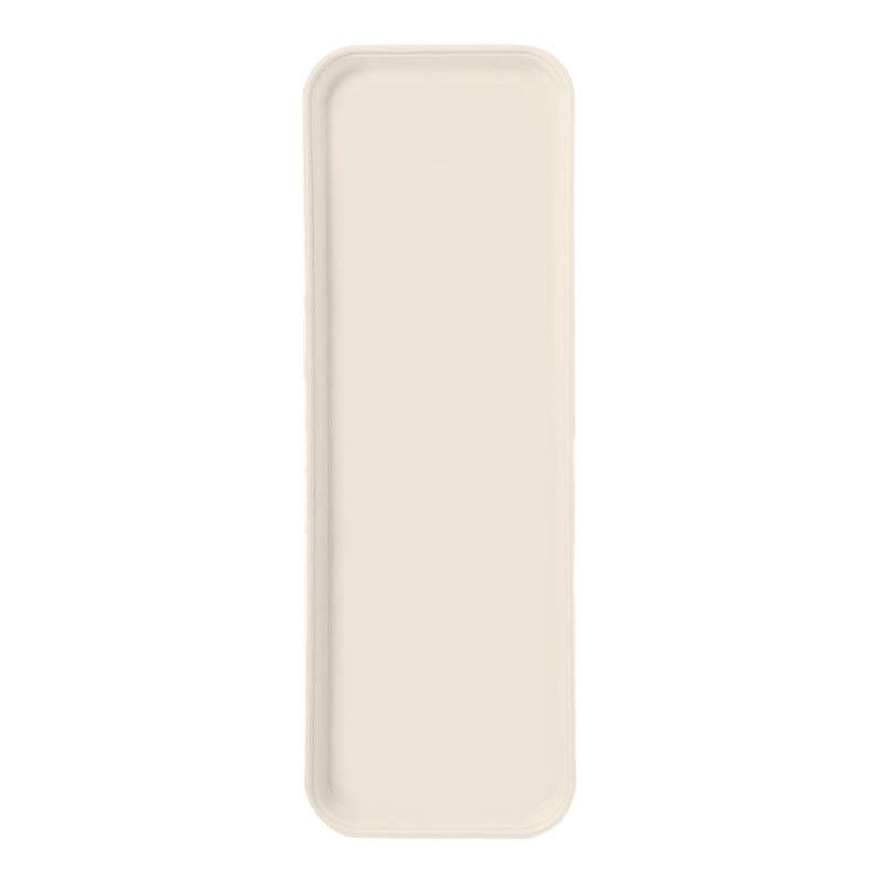 "Carlisle 269FG022 Rectangular Display/Bakery Tray - 8-3/4 x 25-1/2"", Ivory"
