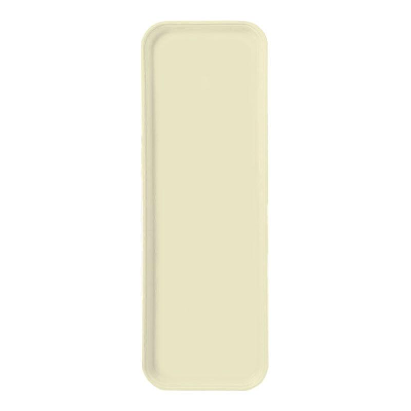 "Carlisle 269FG024 Rectangular Display/Bakery Tray - 8-3/4 x 25-1/2"", Lemon"