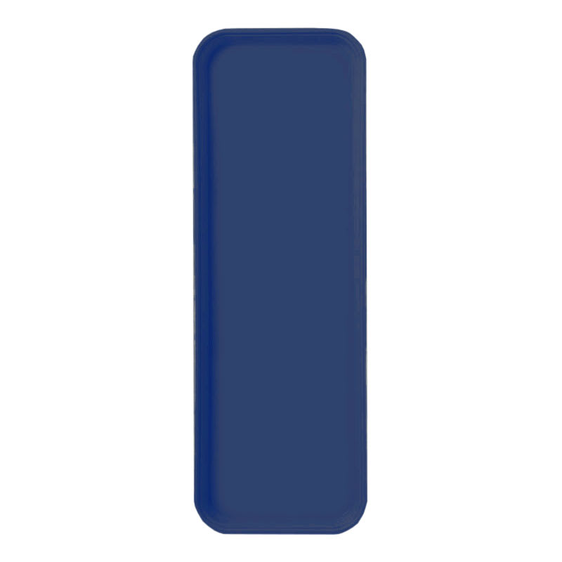 "Carlisle 269FG050 Rectangular Display/Bakery Tray - 8-3/4x25-1/2"" Sapphire Blue"