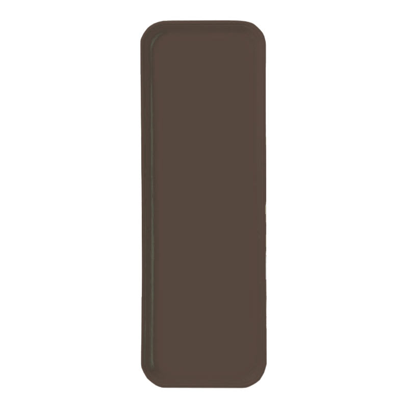 "Carlisle 269FG127 Rectangular Display/Bakery Tray - 8-3/4 x 25-1/2"", Chocolate"