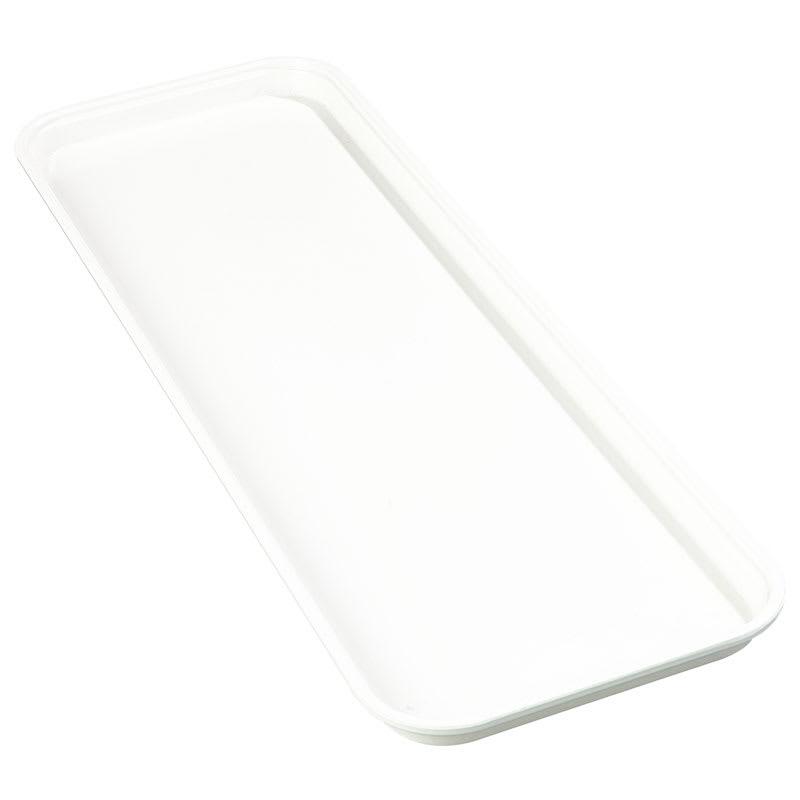 "Carlisle 269FMT301 Rectangular Market Tray - 25 1/2x8 3/4"" Pearl White"