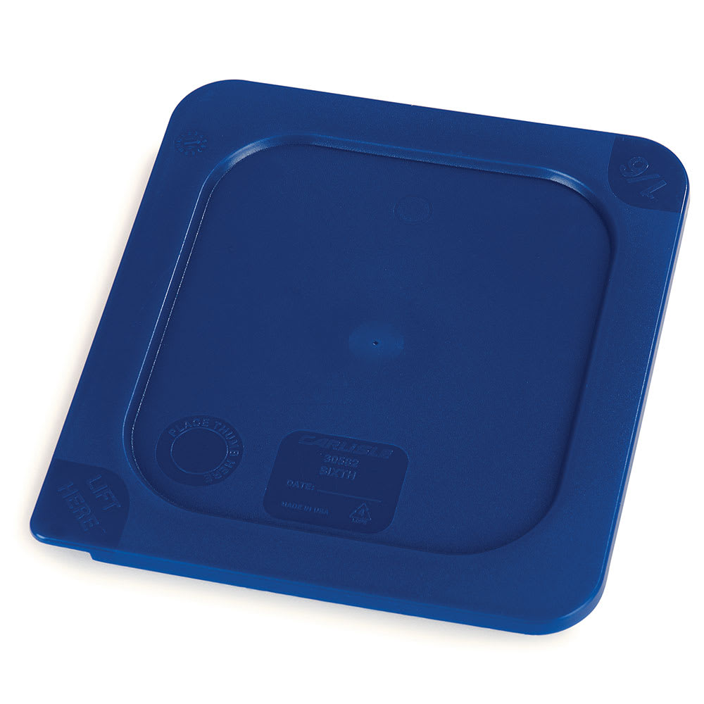 Carlisle 3058260 Smart Lid™ Food Pan Lid for 1/6 Size Pans, Blue