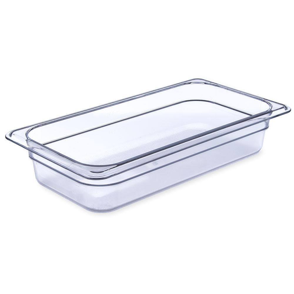 "Carlisle 3066007 1/3 Size Food Pan - 2 1/2""D, Clear"