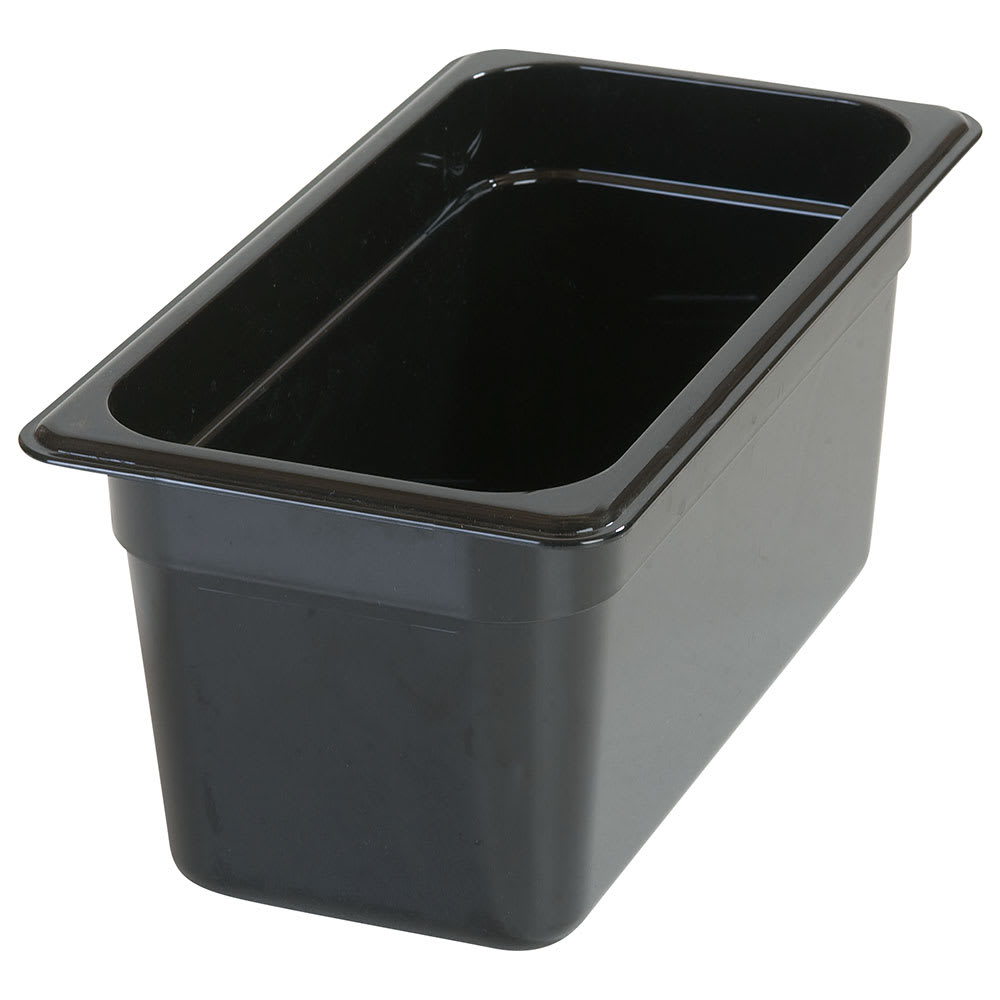 "Carlisle 3066203 1/3 Size Food Pan - 6""D, Black"