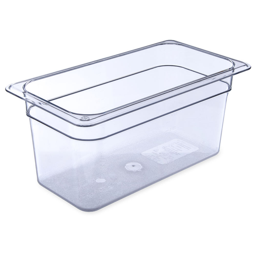 "Carlisle 3066207 1/3 Size Food Pan - 6""D, Clear"
