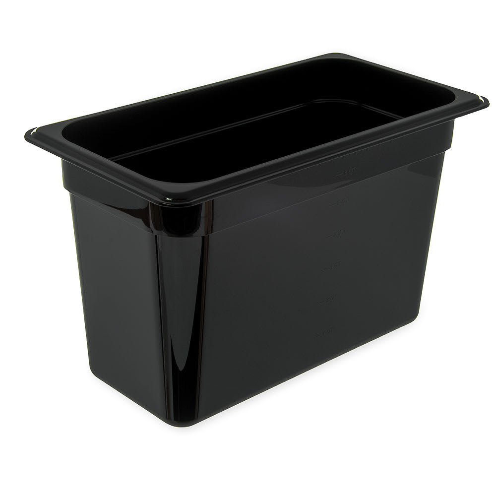 "Carlisle 3066903 1/3 Size Food Pan - 8""D, Black"