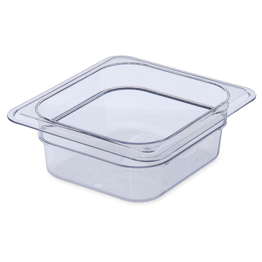 "Carlisle 3068307 1/6 Size Food Pan - 2-1/2""D, Clear"