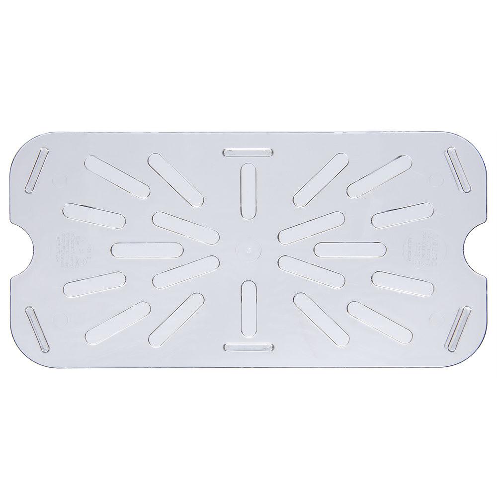 Carlisle 3069507 1/4 Size Drain Shelf - Clear