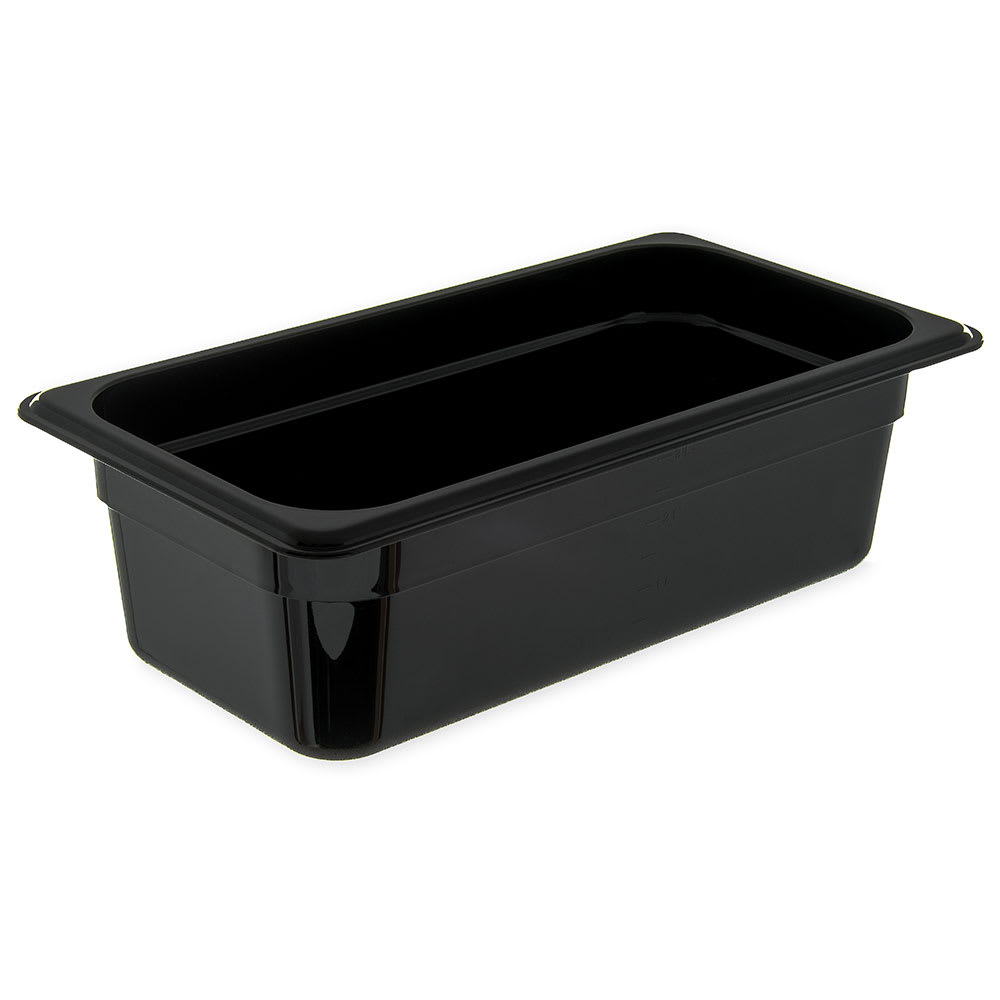 "Carlisle 3086103 StorPlus High Heat Food Pan - 1/3 Size, 4""D, Black"
