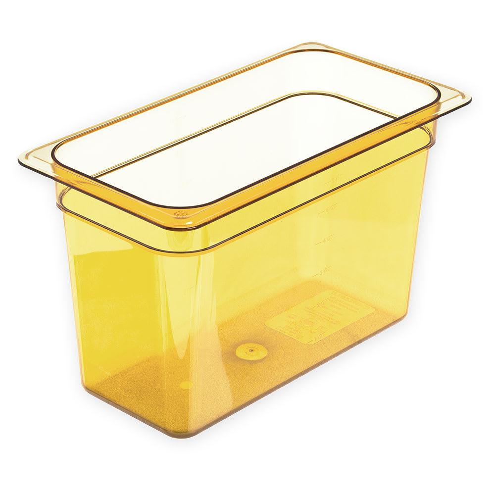 "Carlisle 3086913 StorPlus High Heat Food Pan - 1/3 Size, 8""D, Amber"