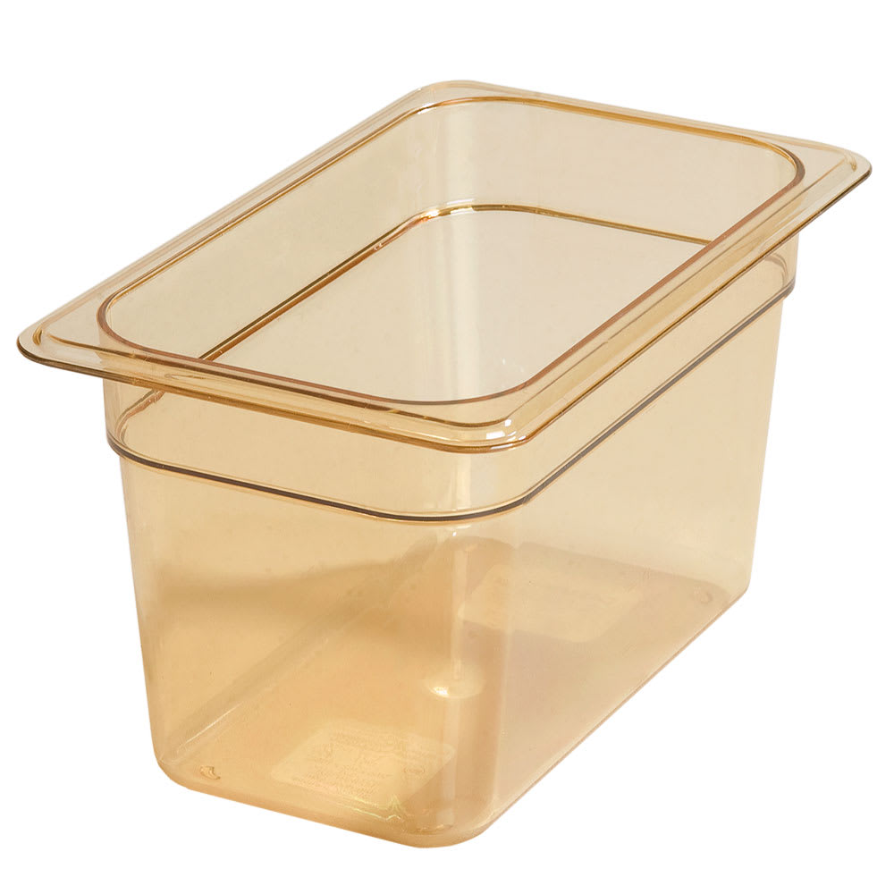 "Carlisle 3088213 High Heat 1/4 Size Food Pan - 6""D, Amber"