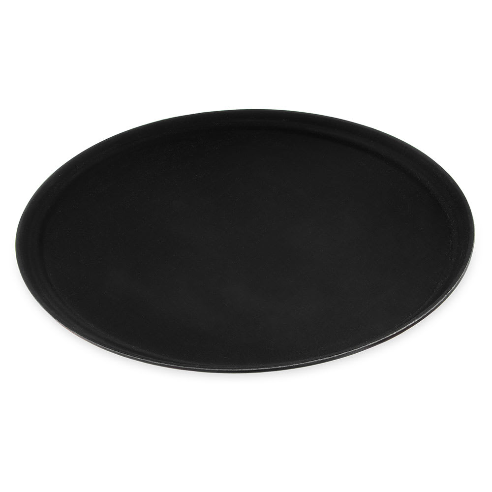"Carlisle 3100GR2004 Oval Serving Tray - 31-1/2x23-1/2"" Black"