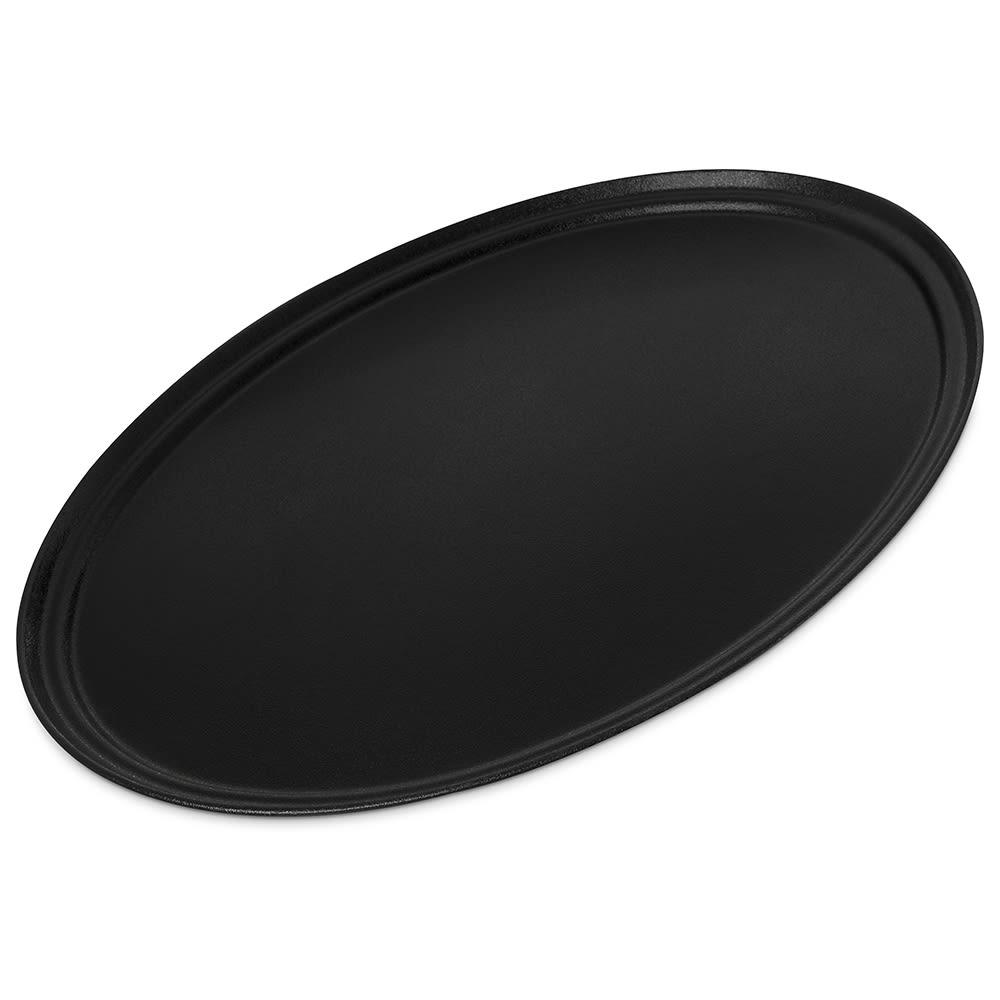 """Carlisle 3100GR2004 Oval Griptite™ 2 Serving Tray - 31"""" x 24"""", Fiberglass, Black"""