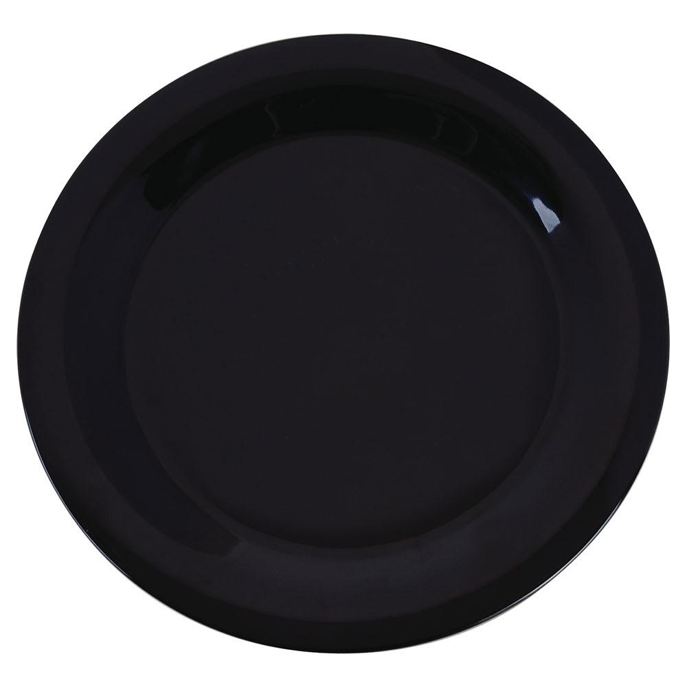 "Carlisle 3300203 10 1/2"" Sierrus Dinner Plate - Melamine, Black"
