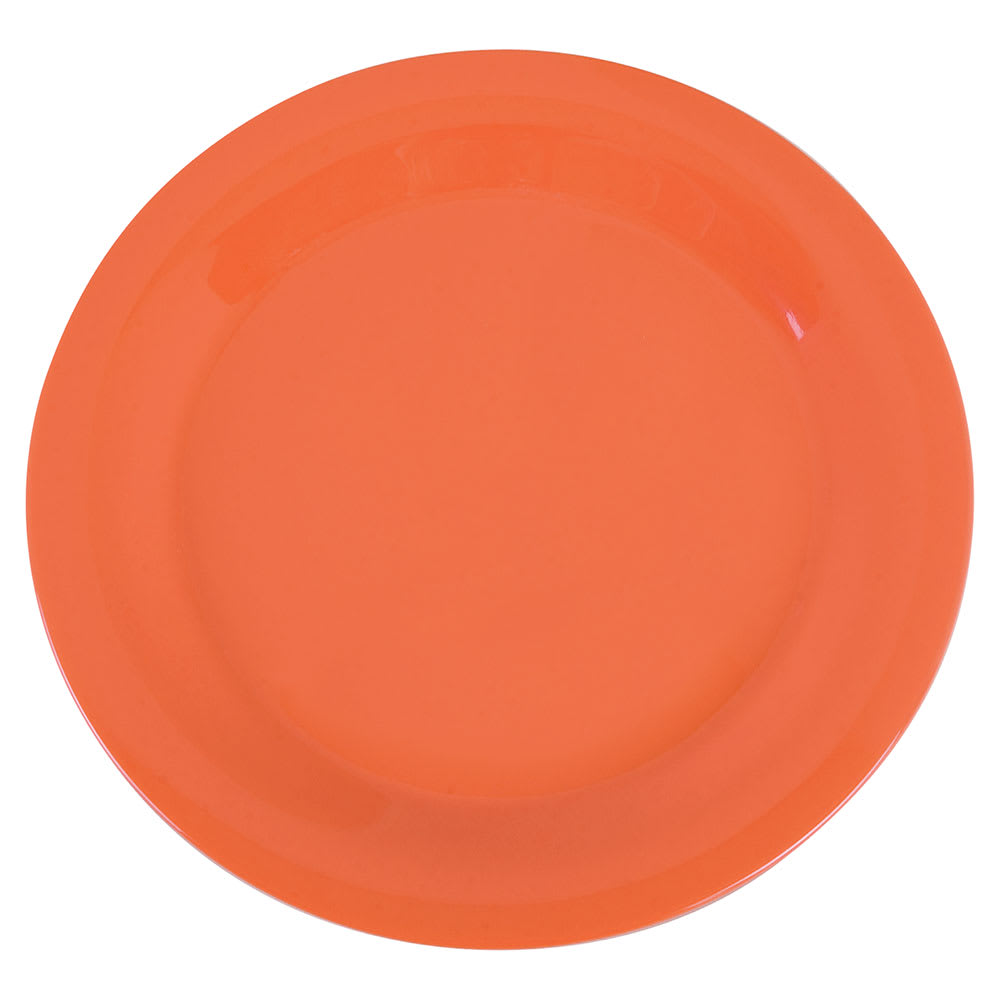 "Carlisle 3300252 10 1/2"" Sierrus Dinner Plate - Melamine, Sunset Orange"