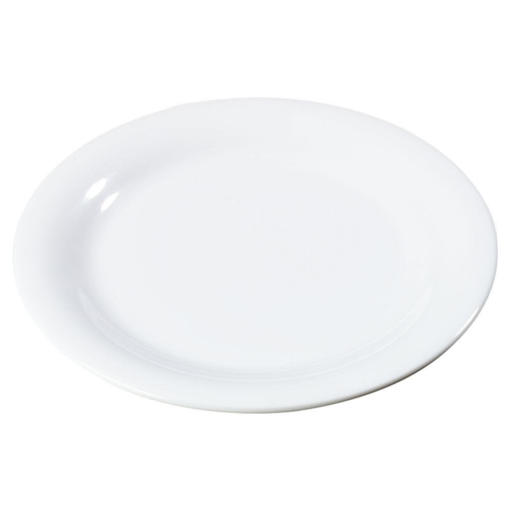 """Carlisle 3300602 7 1/4"""" Sierrus Salad Plate - Melamine, White"""