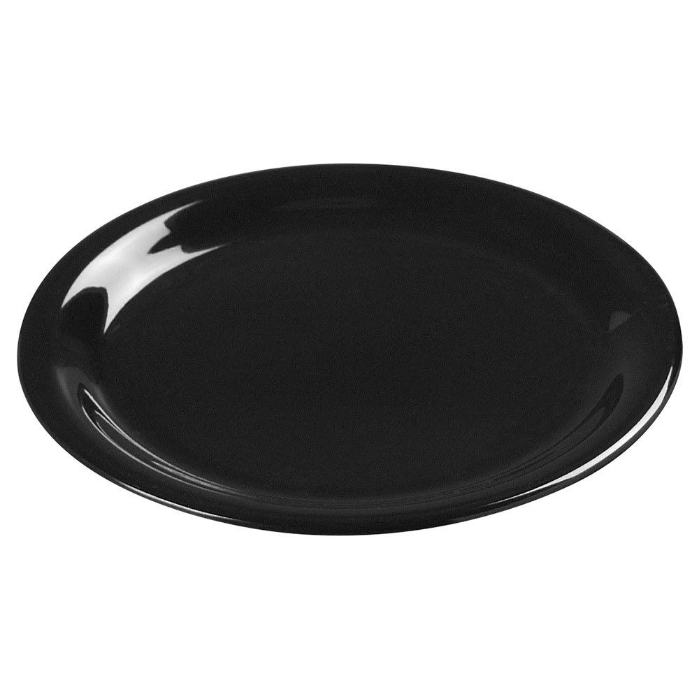 """Carlisle 3300603 7 1/4"""" Sierrus Salad Plate - Melamine, Black"""