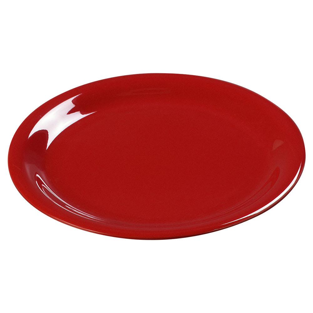 """Carlisle 3300605 7 1/4"""" Sierrus Salad Plate - Melamine, Red"""