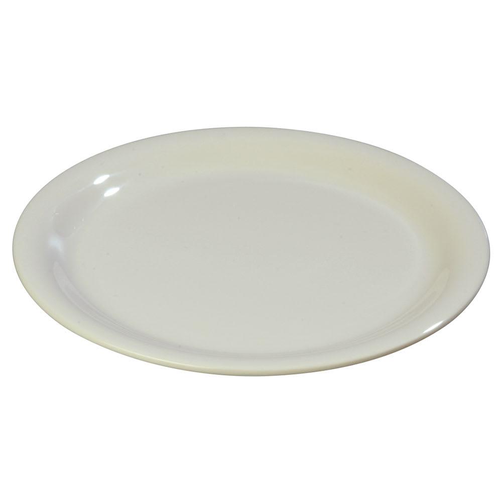 """Carlisle 3300642 7 1/4"""" Sierrus Salad Plate - Melamine, Bone"""