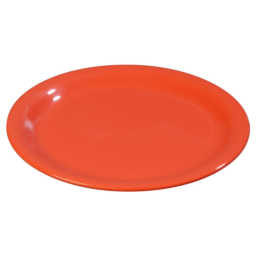 "Carlisle 3300652 7 1/4"" Sierrus Salad Plate - Melamine, Sunset Orange"