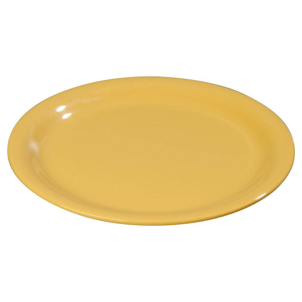 "Carlisle 3300822 6-1/2"" Sierrus Pie Plate - Melamine, Honey Yellow"