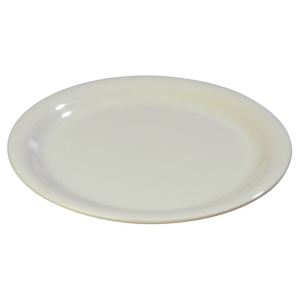 "Carlisle 3300842 6 1/2"" Sierrus Pie Plate - Melamine, Bone"