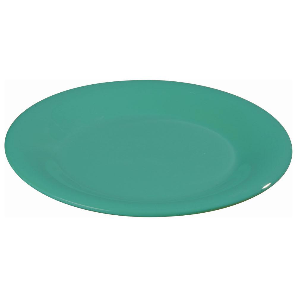"""Carlisle 3301009 10 1/2"""" Sierrus Dinner Plate - Wide Rim, Melamine, Meadow Green"""