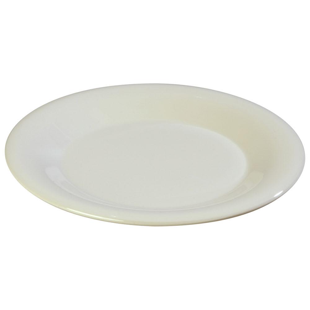 """Carlisle 3301042 10 1/2"""" Sierrus Dinner Plate - Wide Rim, Melamine, Bone"""