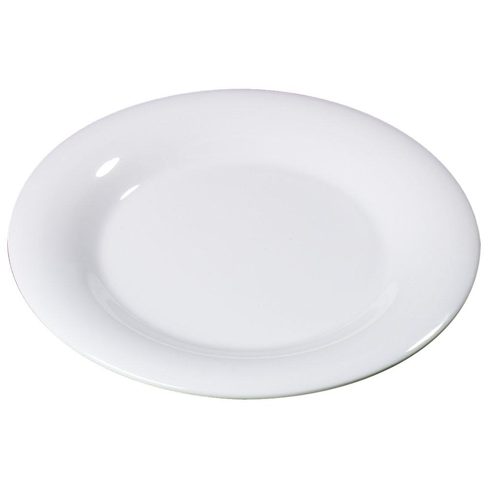 "Carlisle 3301202 9"" Sierrus Dinner Plate - Wide Rim, Melamine, White"
