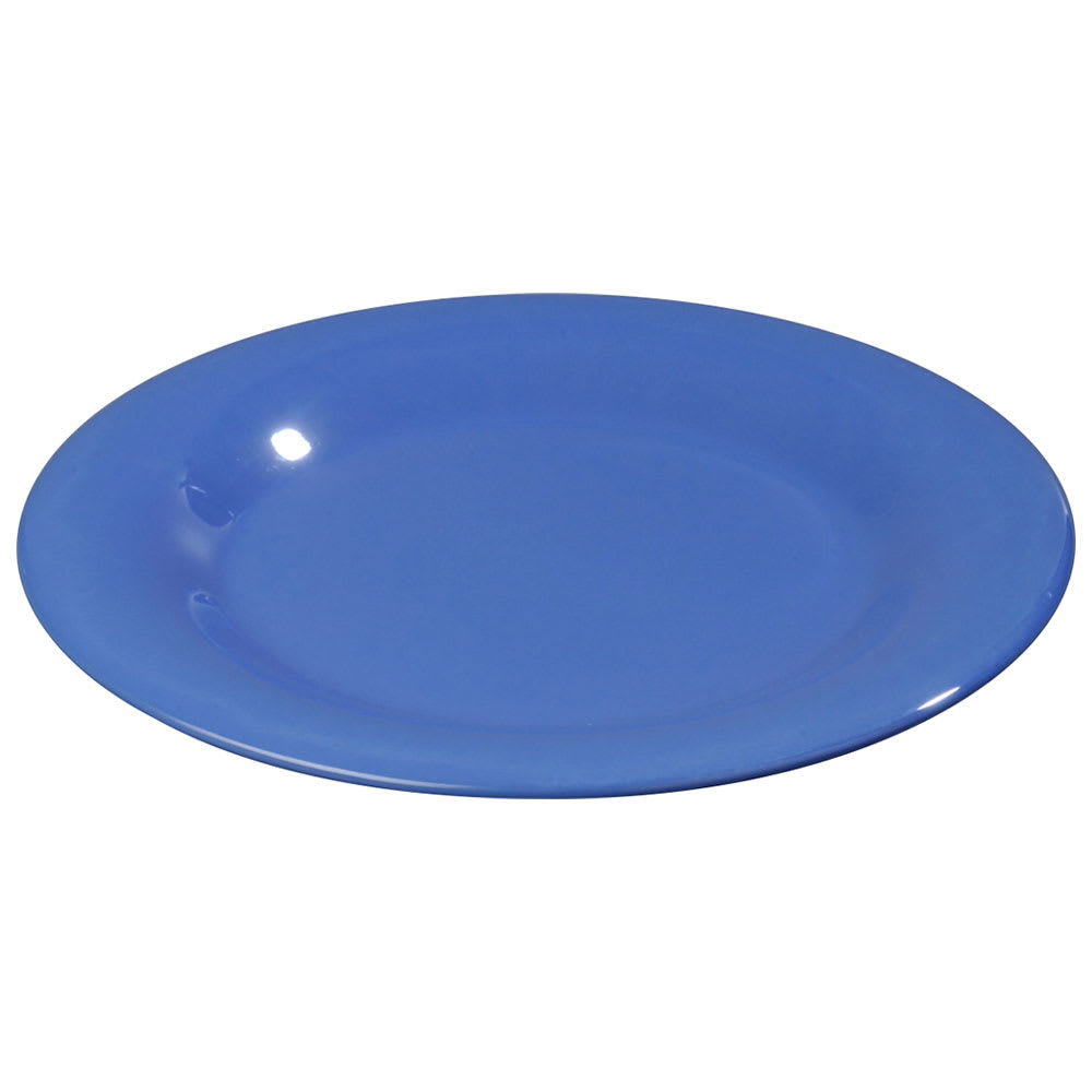 """Carlisle 3301214 9"""" Sierrus Dinner Plate - Wide Rim, Melamine, Ocean Blue"""
