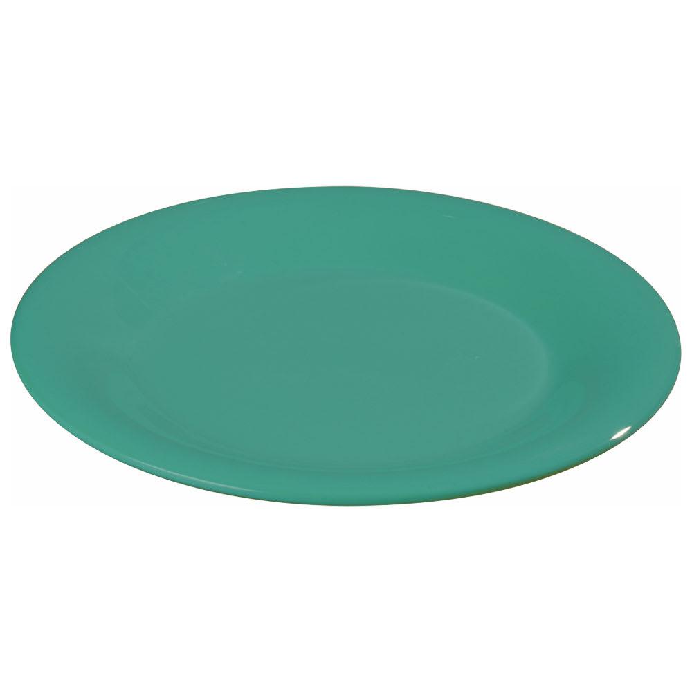 """Carlisle 3301609 7-1/4"""" Sierrus Salad Plate - Wide Rim, Melamine, Meadow Green"""