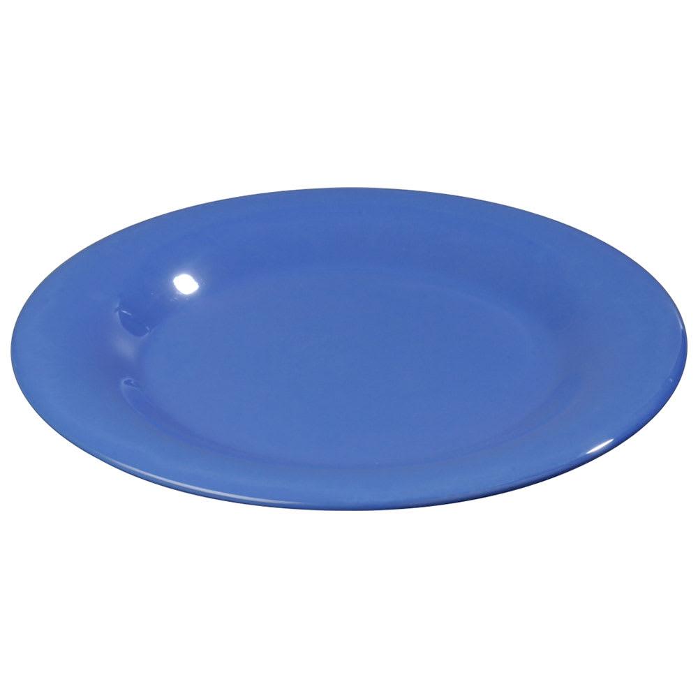 """Carlisle 3301614 7 1/4"""" Sierrus Salad Plate - Wide Rim, Melamine, Ocean Blue"""