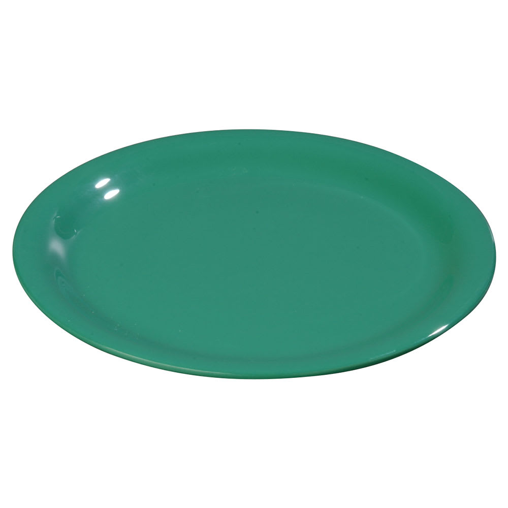 "Carlisle 3301809 6-1/2"" Sierrus Pie Plate - Wide Rim, Melamine, Meadow Green"