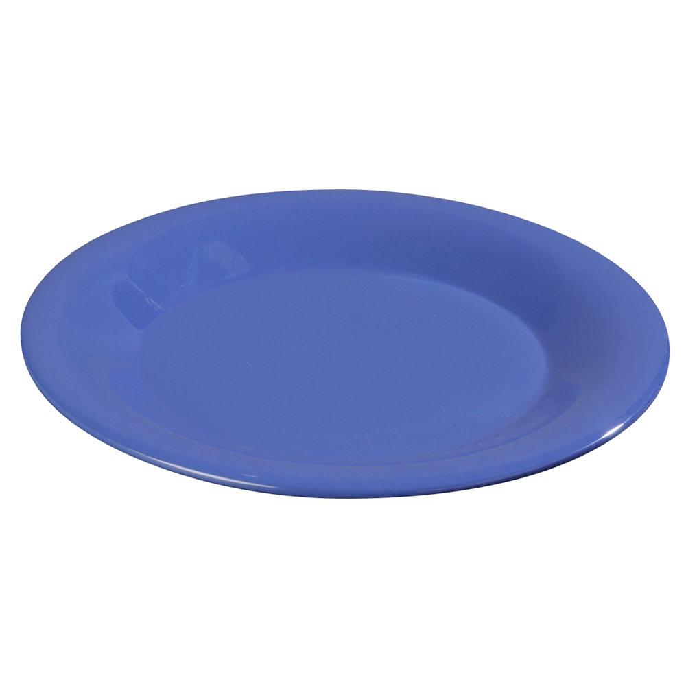 "Carlisle 3302014 5 1/2"" Sierrus Bread/Butter Plate - Wide Rime, Melamine, Ocean Blue"