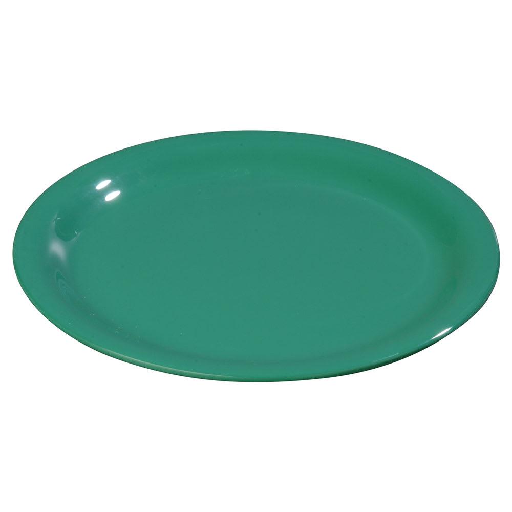 """Carlisle 3302409 12"""" Sierrus Dinner Plate - Wide Rim, Melamine, Meadow Green"""