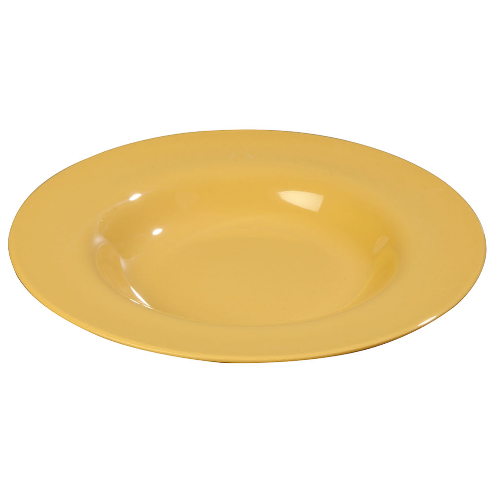 Carlisle 3303022 20 oz Sierrus Chef Salad/Pasta Bowl - Melamine, Honey Yellow