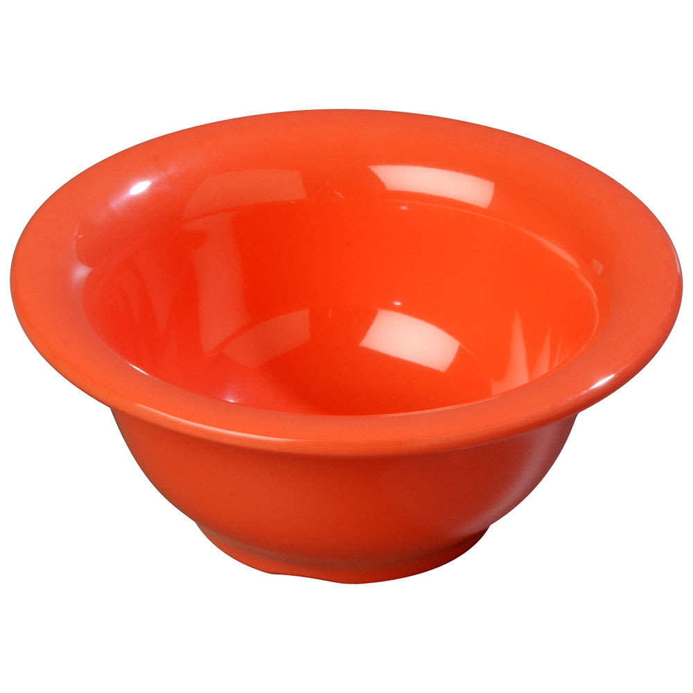 Carlisle 3303852 10 oz Sierrus Rimmed Nappie Bowl - Melamine, Sunset Orange