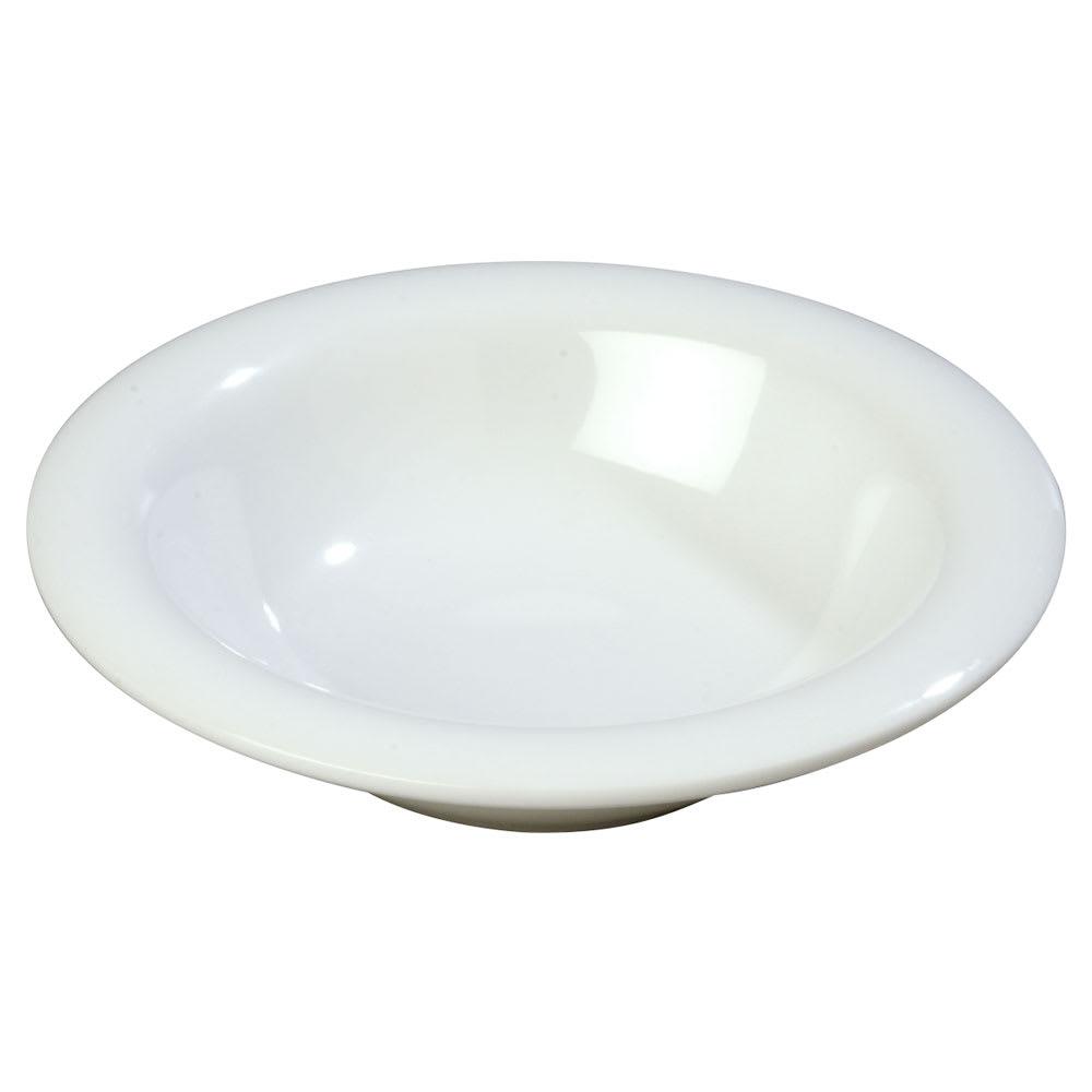 Carlisle 3304002 6 oz Sierrus Rimmed Bowl - Melamine, White