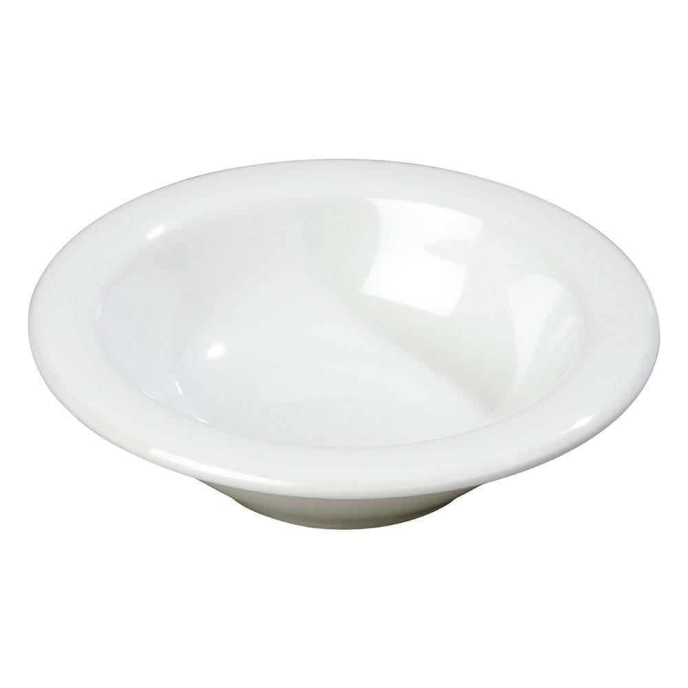 Carlisle 3304202 4-1/2-oz Rimmed Fruit Bowl - Sierra, White Melamine