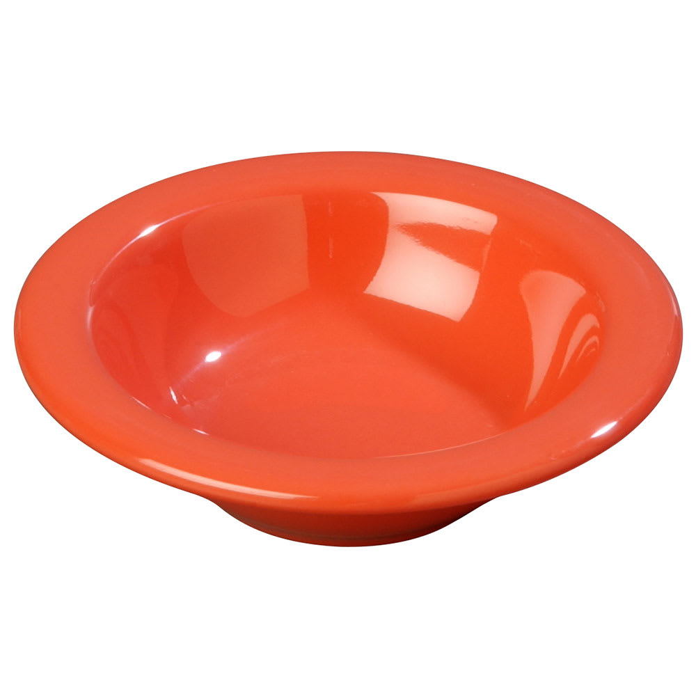 Carlisle 3304252 4 1/2 oz Rimmed Fruit Bowl - Melamine, Sunset Orange