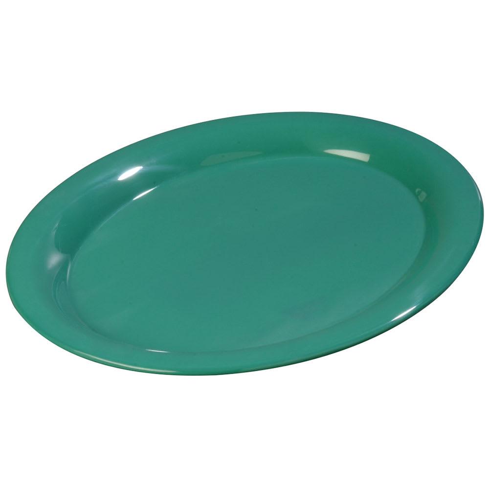 """Carlisle 3308009 Sierrus Oval Platter - 13 1/2x10 1/2"""" Melamine, Meadow Green"""