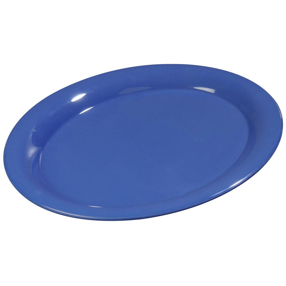"Carlisle 3308014 Sierrus Oval Platter - 13 1/2x10 1/2"" Melamine, Ocean Blue"