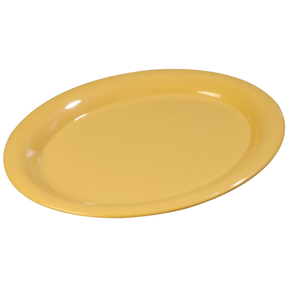 "Carlisle 3308222 Sierrus Oval Platter - 12x9-1/4"" Melamine, Honey Yellow"