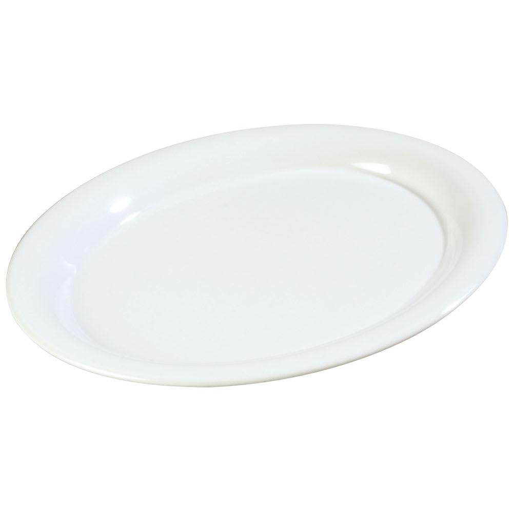 """Carlisle 3308602 Sierrus Oval Platter - 9 1/2x7 1/4"""" Melamine, White"""