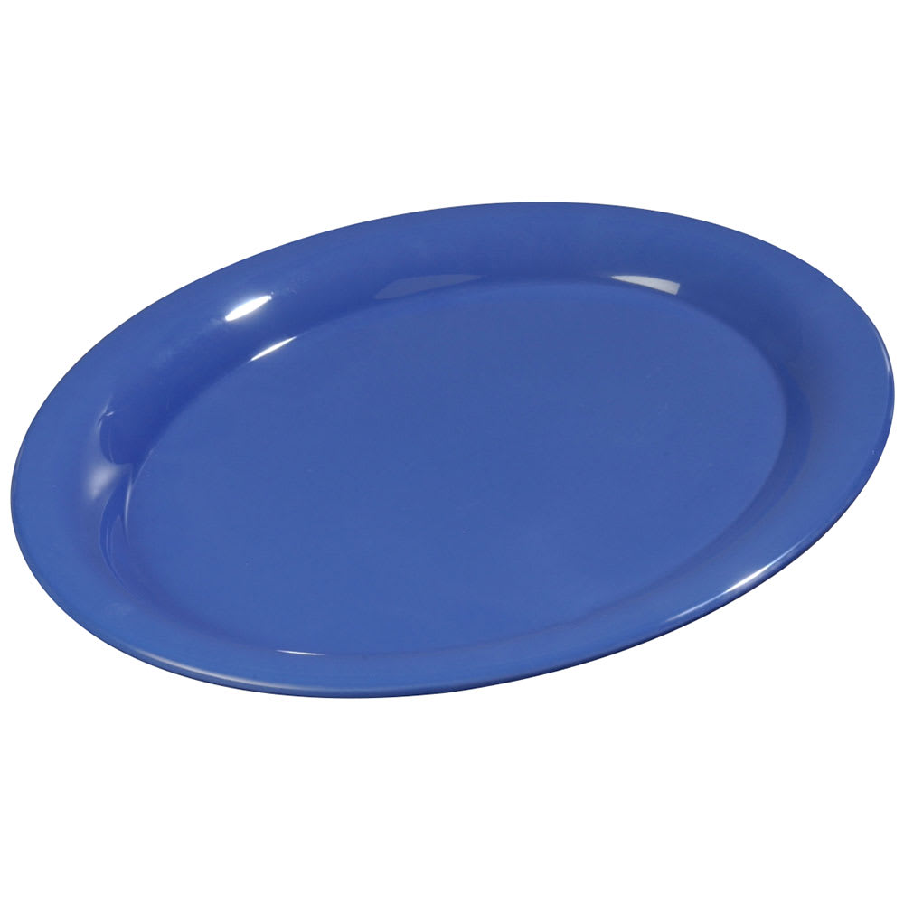 "Carlisle 3308614 Sierrus Oval Platter - 9-1/2x7-1/4"" Melamine, Ocean Blue"