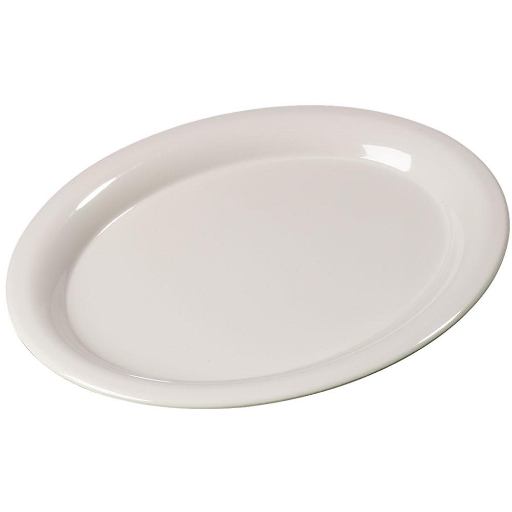"Carlisle 3308642 Sierrus Oval Platter - 9 1/2x7 1/4"" Melamine, Bone"